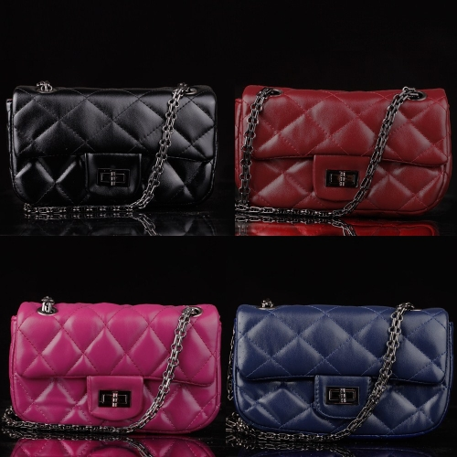 Fashion Women Chain Bag PU Leather Twist Lock Plaid Messenger Bag Mini BagApparel &amp; Jewelry<br>Fashion Women Chain Bag PU Leather Twist Lock Plaid Messenger Bag Mini Bag<br>