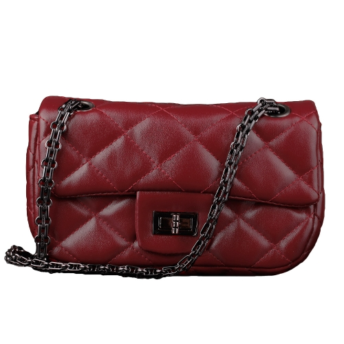 Fashion Women Chain Bag PU Leather Twist Lock Plaid Messenger Bag Mini BagApparel &amp; Jewelry<br>Fashion Women Chain Bag PU Leather Twist Lock Plaid Messenger Bag Mini Bag<br>
