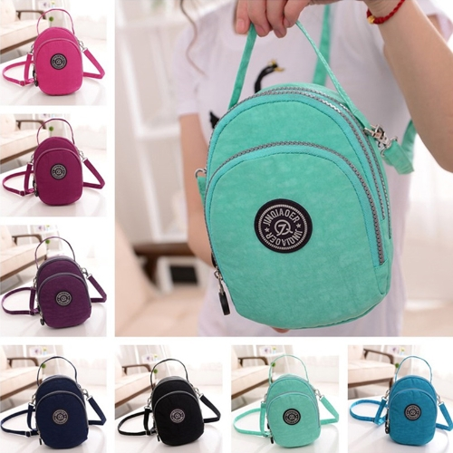 Fashion Women Shoulder Bag Waterproof Fabric Grab Handle Zip Closure Pocket Crossbody Bag HandbagApparel &amp; Jewelry<br>Fashion Women Shoulder Bag Waterproof Fabric Grab Handle Zip Closure Pocket Crossbody Bag Handbag<br>
