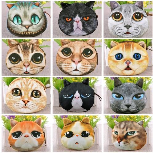 Cute Fashion Women Coin Purse Cat Animal Print Mini Wallet Zipper Closure Small Clutch BagApparel &amp; Jewelry<br>Cute Fashion Women Coin Purse Cat Animal Print Mini Wallet Zipper Closure Small Clutch Bag<br>
