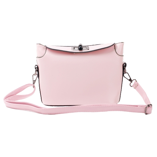 Korean Fashion Women Lady Shoulder Bag Twist Lock Candy Color Messenger Bag