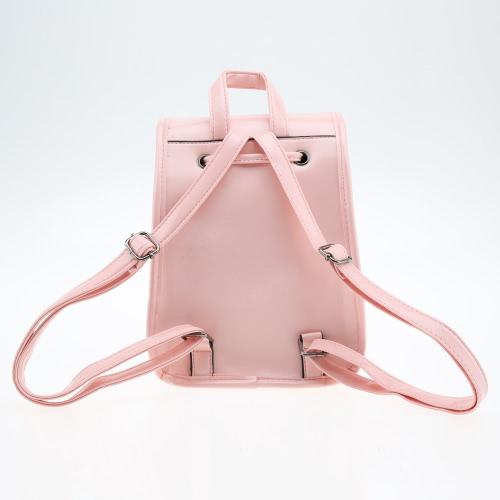 New Fashion Women Backpack Candy Color PU Leather Twist Lock Drawstring Closure School BagApparel &amp; Jewelry<br>New Fashion Women Backpack Candy Color PU Leather Twist Lock Drawstring Closure School Bag<br>