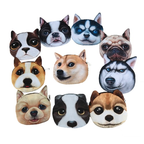 Cute Fashion Women Crossbody Bag Dog Face Head Animal Print Zipper Closure Small Shoulder Chain Bag HandbagApparel &amp; Jewelry<br>Cute Fashion Women Crossbody Bag Dog Face Head Animal Print Zipper Closure Small Shoulder Chain Bag Handbag<br>
