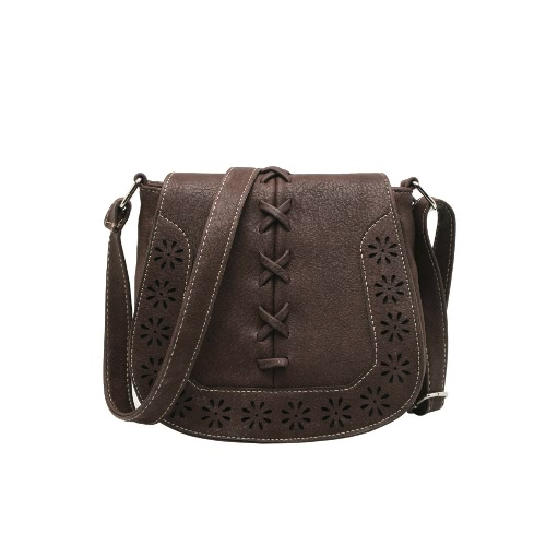 New Fashion Women Shoulder Bag PU Leahther Flap Braid Hollow Out Adjustable Shoulder Strap Vintage Crossbody BagApparel &amp; Jewelry<br>New Fashion Women Shoulder Bag PU Leahther Flap Braid Hollow Out Adjustable Shoulder Strap Vintage Crossbody Bag<br>