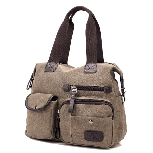 Women Canvas Handbag Casual Shoulder Bag Large Capacity Vintage Crossbody Tote Travel BagApparel &amp; Jewelry<br>Women Canvas Handbag Casual Shoulder Bag Large Capacity Vintage Crossbody Tote Travel Bag<br>