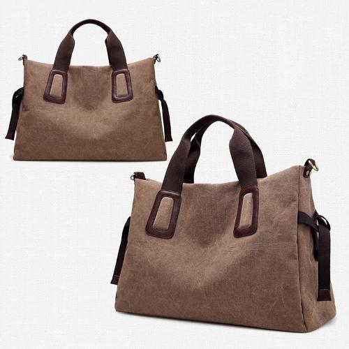 WomenCanvas Handbag Casual Large Capacity Tote Bag Solid Color Messenger Crossbody Shoulder BagApparel &amp; Jewelry<br>WomenCanvas Handbag Casual Large Capacity Tote Bag Solid Color Messenger Crossbody Shoulder Bag<br>