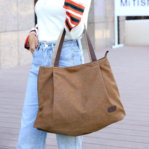 Women Canvas Handbag Large Capacity Tote Bag Solid Color Messenger Crossbody Shoulder BagApparel &amp; Jewelry<br>Women Canvas Handbag Large Capacity Tote Bag Solid Color Messenger Crossbody Shoulder Bag<br>