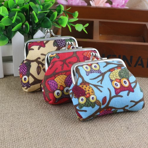 Novelty Owl Print Design Coin Money Bag Purse Small Wallet for Women Kids GirlsApparel &amp; Jewelry<br>Novelty Owl Print Design Coin Money Bag Purse Small Wallet for Women Kids Girls<br>