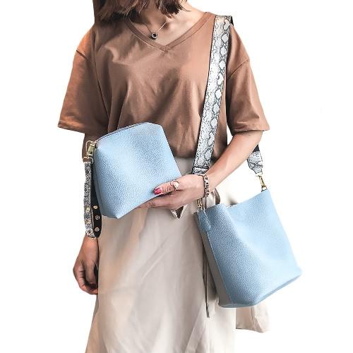 Women Girls PU Crossbody Bag Two-Piece Contrast Splice Zipper Casual Shoulder Bags Clutch BagApparel &amp; Jewelry<br>Women Girls PU Crossbody Bag Two-Piece Contrast Splice Zipper Casual Shoulder Bags Clutch Bag<br>