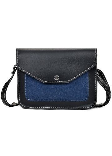 Fashion Women Contrast Color PU Leather Crossbody Bag Flap Front Vintage Messenger Bag Casual Shoulder BagApparel &amp; Jewelry<br>Fashion Women Contrast Color PU Leather Crossbody Bag Flap Front Vintage Messenger Bag Casual Shoulder Bag<br>