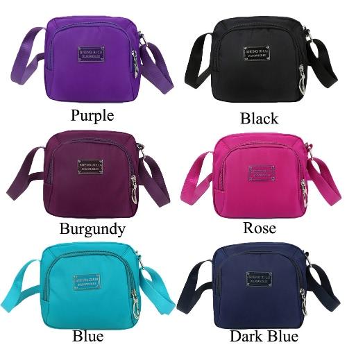 New Fashion Women Crossbody Bag Nylon Waterproof Zipper Fastening Pockets Solid Shoulder BagApparel &amp; Jewelry<br>New Fashion Women Crossbody Bag Nylon Waterproof Zipper Fastening Pockets Solid Shoulder Bag<br>