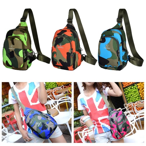 New Fashion Women Casual Crossbody Bag Multi-Pocket Military Camouflage Print Zipper Outdoor Small Bag Chest Bag Shoulder BagApparel &amp; Jewelry<br>New Fashion Women Casual Crossbody Bag Multi-Pocket Military Camouflage Print Zipper Outdoor Small Bag Chest Bag Shoulder Bag<br>