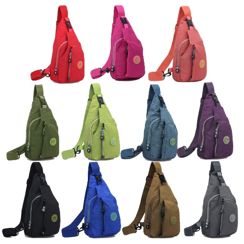 Women Waterproof Nylon Shoulder Bag Zipper Solid Color Durable Casual Travel Crossbody Bag Shoulder BagApparel &amp; Jewelry<br>Women Waterproof Nylon Shoulder Bag Zipper Solid Color Durable Casual Travel Crossbody Bag Shoulder Bag<br>