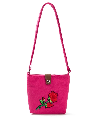 Vintage Women Embroidered Flower Canvas Crossbody Bag Rose Messenger Bag Ethnic Casual Shoulder BagApparel &amp; Jewelry<br>Vintage Women Embroidered Flower Canvas Crossbody Bag Rose Messenger Bag Ethnic Casual Shoulder Bag<br>
