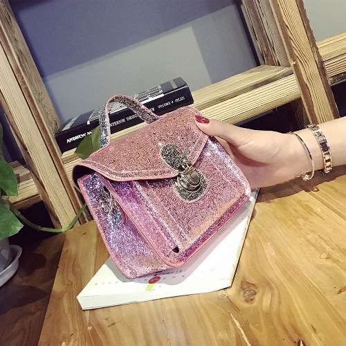 New Fashion Women Mini Crossbody Bags Sequined PU Leather Chain Shoulder Messenger Bag Handbag Pink / Black / SilverApparel &amp; Jewelry<br>New Fashion Women Mini Crossbody Bags Sequined PU Leather Chain Shoulder Messenger Bag Handbag Pink / Black / Silver<br>