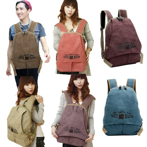 Unisex Backpack Canvas Contrast Letters Print Zipper High Capacity Multifunction Preppy School Bag KnapsackApparel &amp; Jewelry<br>Unisex Backpack Canvas Contrast Letters Print Zipper High Capacity Multifunction Preppy School Bag Knapsack<br>