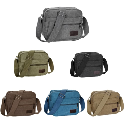 New Fashion Unisex Canvas Crossbody Bag Zipped Pocket Casual Travel Outdoor Small Shoulder BagApparel &amp; Jewelry<br>New Fashion Unisex Canvas Crossbody Bag Zipped Pocket Casual Travel Outdoor Small Shoulder Bag<br>