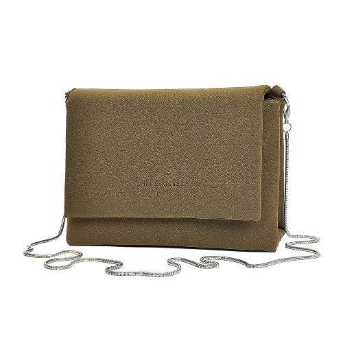 Women Suede Shoulder Bag Crossbody Bag Chain Flap Front Casual Suedtte Mini Messenger BagApparel &amp; Jewelry<br>Women Suede Shoulder Bag Crossbody Bag Chain Flap Front Casual Suedtte Mini Messenger Bag<br>