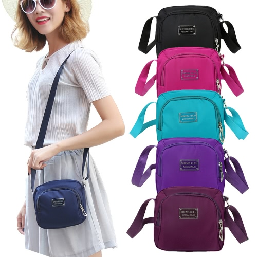 New Fashion Women Crossbody Bag Nylon Waterproof Zipper Fastening Pockets Solid Shoulder BagApparel &amp; Jewelry<br>New Fashion Women Crossbody Bag Nylon Waterproof Zipper Fastening Pockets Solid Shoulder Bag<br>