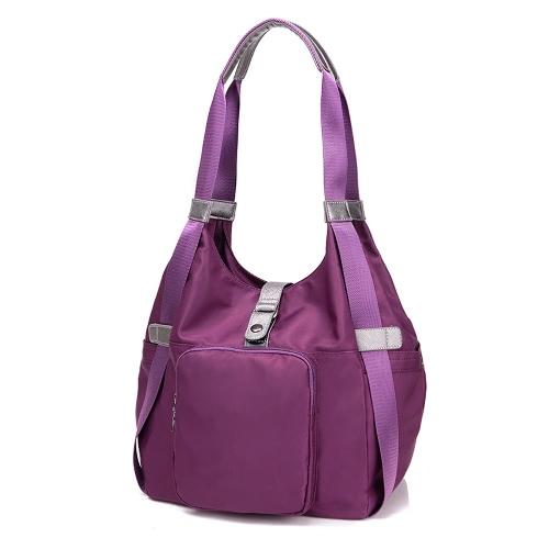 Fashion Women Water-proof Nylon Handbag Zip Top Pockets Messenger Shoulder Bag Tote Blue/Purple/BlackApparel &amp; Jewelry<br>Fashion Women Water-proof Nylon Handbag Zip Top Pockets Messenger Shoulder Bag Tote Blue/Purple/Black<br>