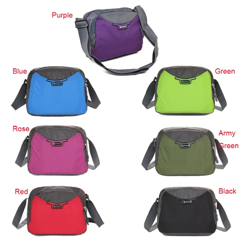 Women Nylon Crossbody Bag Zipper Adjustable Strap Pockets Casual Bag Travel Outdoor Shoulder BagApparel &amp; Jewelry<br>Women Nylon Crossbody Bag Zipper Adjustable Strap Pockets Casual Bag Travel Outdoor Shoulder Bag<br>