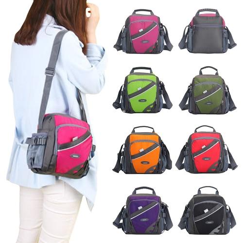New Unisex Nylon Crossbody Bag Waterproof Contrast Color Zipper Multi-Pockets Casual Sport Outdoor Small Shoulder Bags Handbag