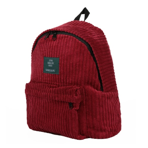 New Fashion Women Girls Backpack Corduroy Solid Color Large Capacity Casual Student Schoolbag Travel BagApparel &amp; Jewelry<br>New Fashion Women Girls Backpack Corduroy Solid Color Large Capacity Casual Student Schoolbag Travel Bag<br>