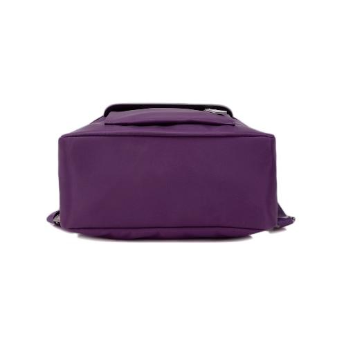 New Women Small Nylon Backpack Leather Zipper Casual Waterproof Schoolbag Travel Bag Black/Dark Blue/Dark PurpleApparel &amp; Jewelry<br>New Women Small Nylon Backpack Leather Zipper Casual Waterproof Schoolbag Travel Bag Black/Dark Blue/Dark Purple<br>