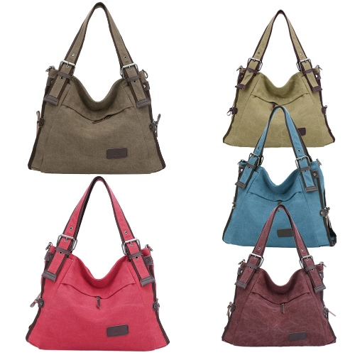 New Fashion Women Canvas Handbag Large Capacity Pockets Casual Shoulder Messenger Crossbody Bag ToteApparel &amp; Jewelry<br>New Fashion Women Canvas Handbag Large Capacity Pockets Casual Shoulder Messenger Crossbody Bag Tote<br>