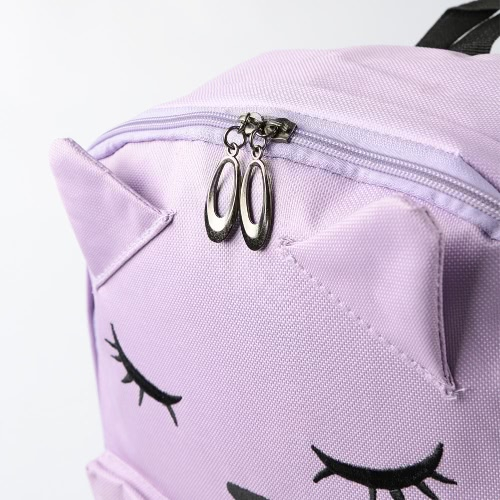 Women Backpack Cat Embroidery Footprint Large Capacity Zipper Adjustable Strap Laptop Bag Casual School Travel BagApparel &amp; Jewelry<br>Women Backpack Cat Embroidery Footprint Large Capacity Zipper Adjustable Strap Laptop Bag Casual School Travel Bag<br>