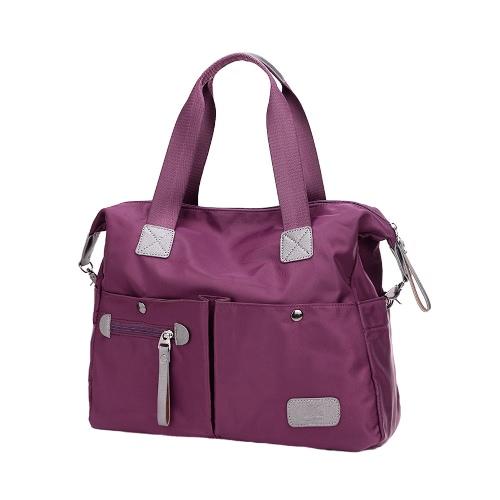 New Fashion Women Handbag Nylon Oxford Large Capacity Multi Pockets Casual Shoulder Crossbody Bag Tote Purple/Black/BlueApparel &amp; Jewelry<br>New Fashion Women Handbag Nylon Oxford Large Capacity Multi Pockets Casual Shoulder Crossbody Bag Tote Purple/Black/Blue<br>