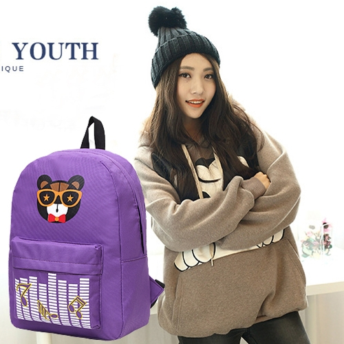 New Fashion Women Backpack Printed Pattern Front Zipper Pocket Candy Color School Traveling BagApparel &amp; Jewelry<br>New Fashion Women Backpack Printed Pattern Front Zipper Pocket Candy Color School Traveling Bag<br>