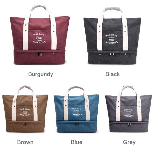 Women Canvas Handbag Shoulder Bag Large Capacity Casual Tote Travel BagApparel &amp; Jewelry<br>Women Canvas Handbag Shoulder Bag Large Capacity Casual Tote Travel Bag<br>