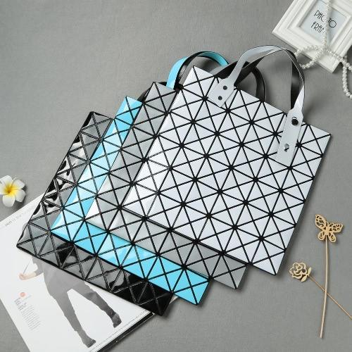 New Women Shoulder Bag Geometric Plaid  Foldable Adjustable Handle Casual Tote BagApparel &amp; Jewelry<br>New Women Shoulder Bag Geometric Plaid  Foldable Adjustable Handle Casual Tote Bag<br>