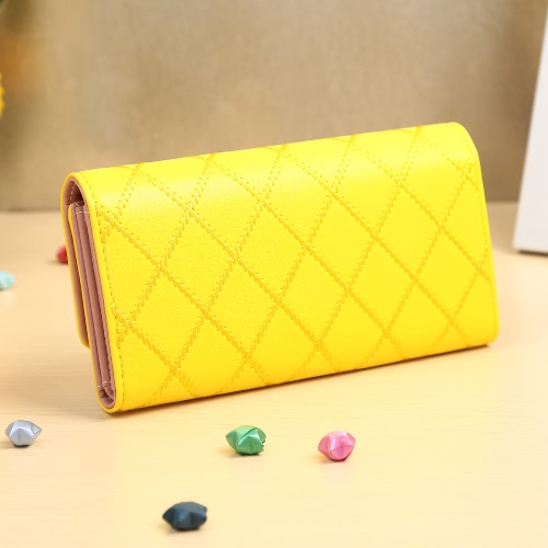 New Fashion Women Long Wallet PU Leather Geometry Crown Solid Color Button Coin Purse Card HolderApparel &amp; Jewelry<br>New Fashion Women Long Wallet PU Leather Geometry Crown Solid Color Button Coin Purse Card Holder<br>