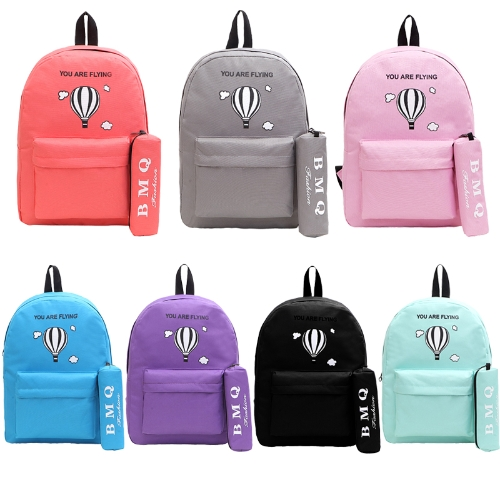 Fashion Women Printed Backpack Letter Front Zip Pocket Candy Color School Travel Shopping Rucksack BagApparel &amp; Jewelry<br>Fashion Women Printed Backpack Letter Front Zip Pocket Candy Color School Travel Shopping Rucksack Bag<br>