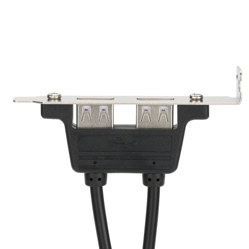 High Quality Dual Two Ports USB 2.0 A Female Back Panel to Motherboard 9 Pin Header Cable Adapter Expander Rear Bracket for PC CasComputer &amp; Stationery<br>High Quality Dual Two Ports USB 2.0 A Female Back Panel to Motherboard 9 Pin Header Cable Adapter Expander Rear Bracket for PC Cas<br>