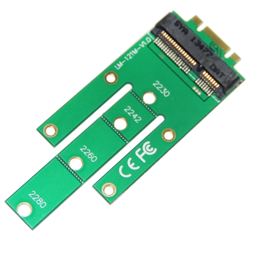 WBTUO LM-121M PCI-E M.2 Convert Card NGff Key B Key M to mSATA Connector Adapter GreenComputer &amp; Stationery<br>WBTUO LM-121M PCI-E M.2 Convert Card NGff Key B Key M to mSATA Connector Adapter Green<br>