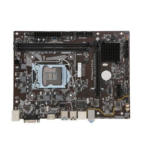 Coloré C.H110M-T PLUS V20 pour Intel H110 LGA 1151 Socket Ordinateur de bureau Mainboard Carte mère SATA 6Gb / s USB 3.0 Jeux DDR4 mATX