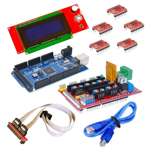 3D Printer Controller RAMPS 1.4 + Mega 2560 R3 + 5 * A4988 + 2004 LCD Controller for Arduino RepRapComputer &amp; Stationery<br>3D Printer Controller RAMPS 1.4 + Mega 2560 R3 + 5 * A4988 + 2004 LCD Controller for Arduino RepRap<br>
