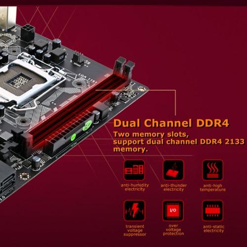 Colorful Warrior C.H110M-K V20A Motherboard Mainboard Systemboard for Intel LGA 1151 DDR4 SATA3 USB3.0 mATX PCI-E 3.0 for DesktopComputer &amp; Stationery<br>Colorful Warrior C.H110M-K V20A Motherboard Mainboard Systemboard for Intel LGA 1151 DDR4 SATA3 USB3.0 mATX PCI-E 3.0 for Desktop<br>
