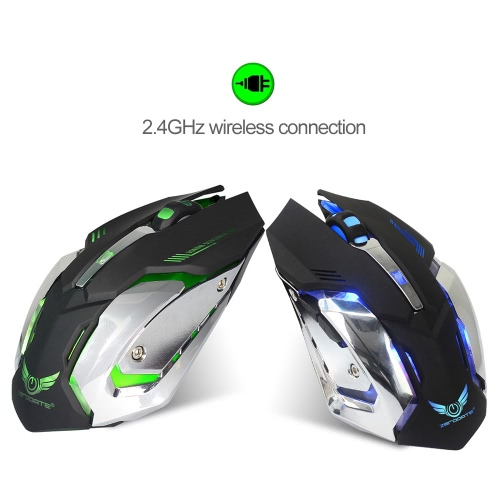 ZERODATE X70B 2.4GHz Wireless Gaming Mouse Computer Game Mouse Adjustable DPI Plug and Play 6 Buttons for Laptop Notebook PC BlackComputer &amp; Stationery<br>ZERODATE X70B 2.4GHz Wireless Gaming Mouse Computer Game Mouse Adjustable DPI Plug and Play 6 Buttons for Laptop Notebook PC Black<br>