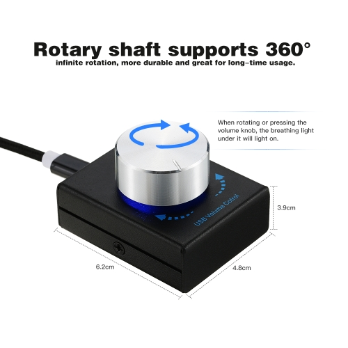 USB Volume Control Computer Speaker Audio Volume Controller Adjuster with One Key Mute FunctionComputer &amp; Stationery<br>USB Volume Control Computer Speaker Audio Volume Controller Adjuster with One Key Mute Function<br>