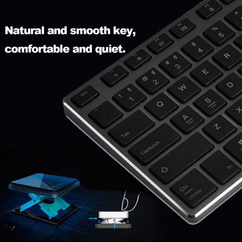 AJAZZ AK3.3 Portable Wireless Bluetooth Keyboard Ultra Slim Keyboard for IOS Android Windows Tablet Smart Phone Space GreyComputer &amp; Stationery<br>AJAZZ AK3.3 Portable Wireless Bluetooth Keyboard Ultra Slim Keyboard for IOS Android Windows Tablet Smart Phone Space Grey<br>