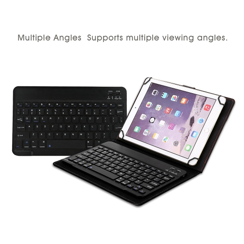 Wireless Bluetooth Keyboard for 8in to 8.9in Bluetooth Tablets 78 Keys Keyboard with Leather Case for IOS Android Windows BlackComputer &amp; Stationery<br>Wireless Bluetooth Keyboard for 8in to 8.9in Bluetooth Tablets 78 Keys Keyboard with Leather Case for IOS Android Windows Black<br>