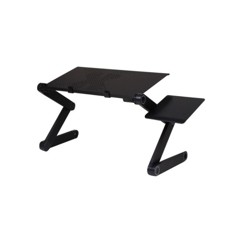 YXD-1006 Laptop Table Stand Portable Mobile Laptop Standing Desk with Mouse Pad Fully Ergonomic Mount Book Macbook Laptop Ultra-light Aluminum Bed Tray Desk