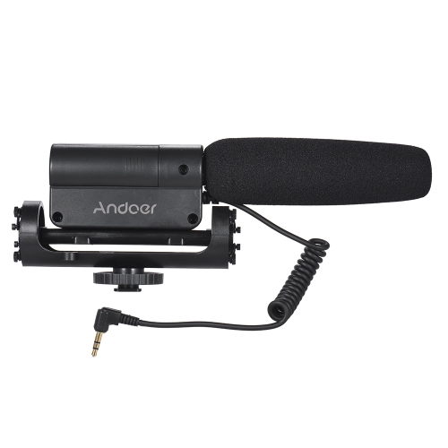 Andoer Recording Condenser Microphone  + Large Size Furry Wind MuffCameras &amp; Photo Accessories<br>Andoer Recording Condenser Microphone  + Large Size Furry Wind Muff<br>