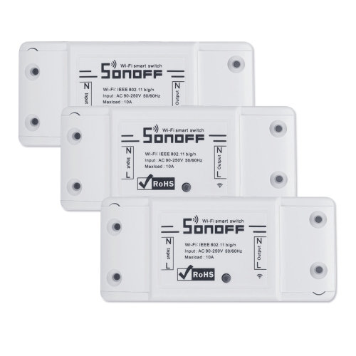 SONOFF Basic Wifi Switch Works with Alexa for Google Home 3PCSSmart Device &amp; Safety<br>SONOFF Basic Wifi Switch Works with Alexa for Google Home 3PCS<br>