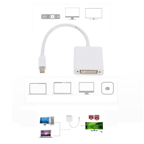 Mini DisplayPort MDP Thunderbolt to DVI Adapter Cable for MacBook Air Pro iMac Mac Mini Laptop PC HDTV Projector MonitorComputer &amp; Stationery<br>Mini DisplayPort MDP Thunderbolt to DVI Adapter Cable for MacBook Air Pro iMac Mac Mini Laptop PC HDTV Projector Monitor<br>