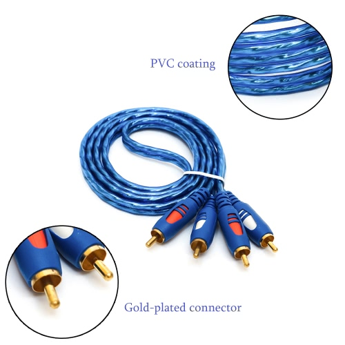 2RCA Male to 2RCA Male Left &amp; Right Stereo 1.5m/3m/5m Audio Cable Cord Wire AV Cable with Copper Core Gold-plated Connector for CDComputer &amp; Stationery<br>2RCA Male to 2RCA Male Left &amp; Right Stereo 1.5m/3m/5m Audio Cable Cord Wire AV Cable with Copper Core Gold-plated Connector for CD<br>
